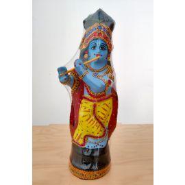Krishna Statue in Fibre (35 cm height)   Guruvayur Krishna Statue - 1pc